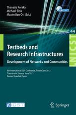 Testbeds and Research Infrastructure. Development of Networks and Communities