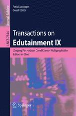Transactions on Edutainment IX