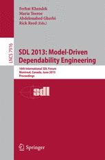 SDL 2013: Model-Driven Dependability Engineering
