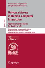 Universal Access in Human-Computer Interaction. Applications and Services for Quality of Life