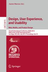 Design, User Experience, and Usability. Web, Mobile, and Product Design