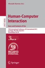 Human-Computer Interaction. Users and Contexts of Use
