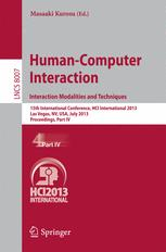 Human-Computer Interaction. Interaction Modalities and Techniques