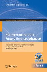 HCI International 2013 - Posters' Extended Abstracts