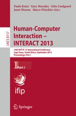 Human-Computer Interaction – INTERACT 2013