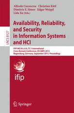 Availability, Reliability, and Security in Information Systems and HCI