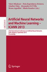 Artificial Neural Networks and Machine Learning – ICANN 2013