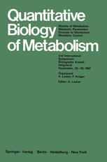 Quantitative Biology of Metabolism