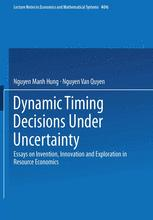 Dynamic Timing Decisions Under Uncertainty