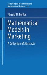 Mathematical Models in Marketing