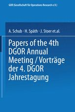 Vorträge der Jahrestagung 1974 DGOR Papers of the Annual Meeting