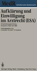 Aufklärung und Einwilligung im Arztrecht (ESA)