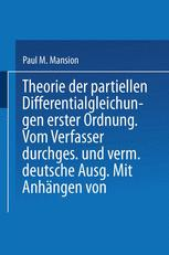 Theorie der Partiellen Differentialgleichungen erster Ordnung