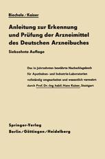 Anleitung zur Erkennung und Prüfung der Arzneimittel des Deutschen Arzneibuches