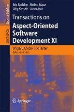 Transactions on Aspect-Oriented Software Development XI