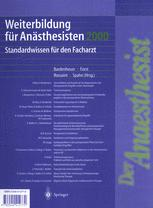 Weiterbildung für Anästhesisten 2000