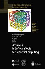 Advances in Software Tools for Scientific Computing
