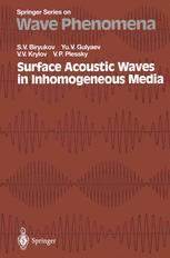 Surface Acoustic Waves in Inhomogeneous Media