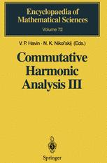Commutative Harmonic Analysis III