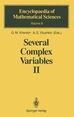Several Complex Variables II