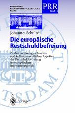 Die europäische Restschuldbefreiung