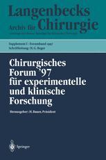Chirurgisches Forum '97 für experimentelle und klinische Forschung