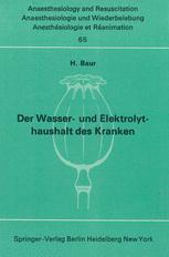 Der Wasser- und Elektrolythaushalt des Kranken