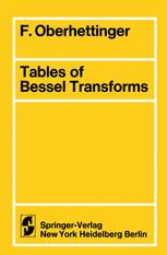 Tables of Bessel Transforms