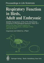Respiratory Function in Birds, Adult and Embryonic
