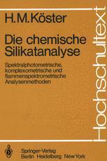 Die chemische Silikatanalyse