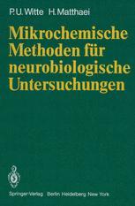 Mikrochemische Methoden für neurobiologische Untersuchungen