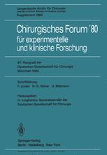 Chirurgisches Forum'80