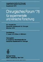 Chirurgisches Forum '76 für experimentelle und klinische Forschung