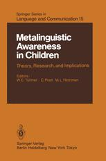 Metalinguistic Awareness in Children
