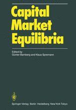 Capital Market Equilibria