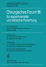 103. Kongreß der Deutschen Gesellschaft für Chirurgie München, 23.–26. April 1986