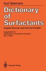 Dictionary of Surfactants