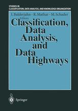 Classification, Data Analysis, and Data Highways