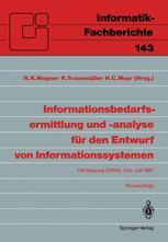 Informationsbedarfsermittlung und -analyse für den Entwurf von Informationssystemen