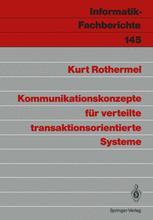 Kommunikationskonzepte für verteilte transaktionsorientierte Systeme