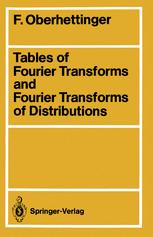 Tables of Fourier Transforms and Fourier Transforms of Distributions