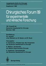 106. Kongreß der Deutschen Gesellschaft für Chirurgie München, 29. März — 1. April 1989
