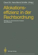 Allokationseffizienz in der Rechtsordnung