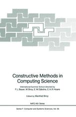 Constructive Methods in Computing Science