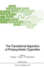 The Translational Apparatus of Photosynthetic Organelles