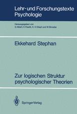 Zur logischen Struktur psychologischer Theorien