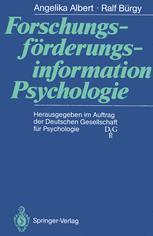 Forschungsförderungsinformation Psychologie