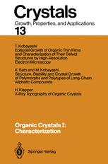 Organic Crystals I: Characterization
