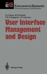 User Interface Management and Design