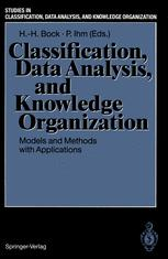 Classification, Data Analysis, and Knowledge Organization
